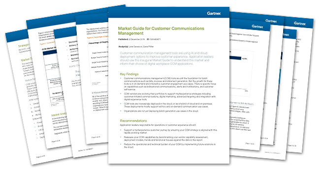 Gartner Market Guide for CCM