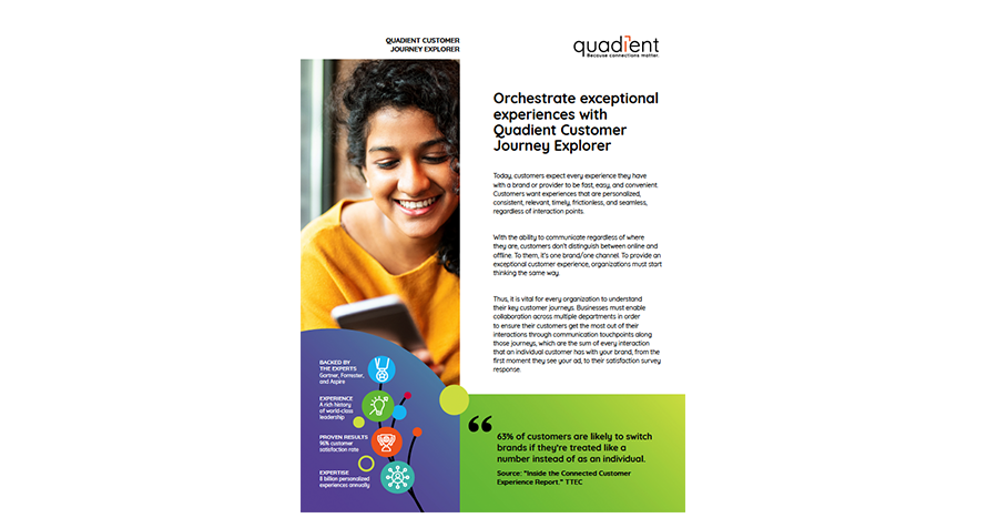Quadient Customer Journey Explorer