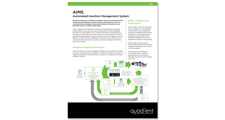 AIMS Automated Insertion Management System