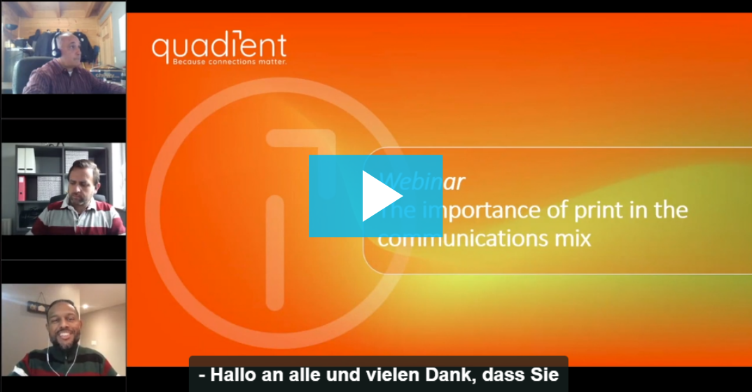 Webinar-Aufzeichnung: Importance of print in the communications mix