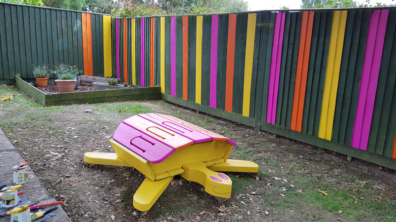 Garden project in a children's centre