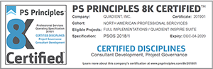 Certification PS Principles