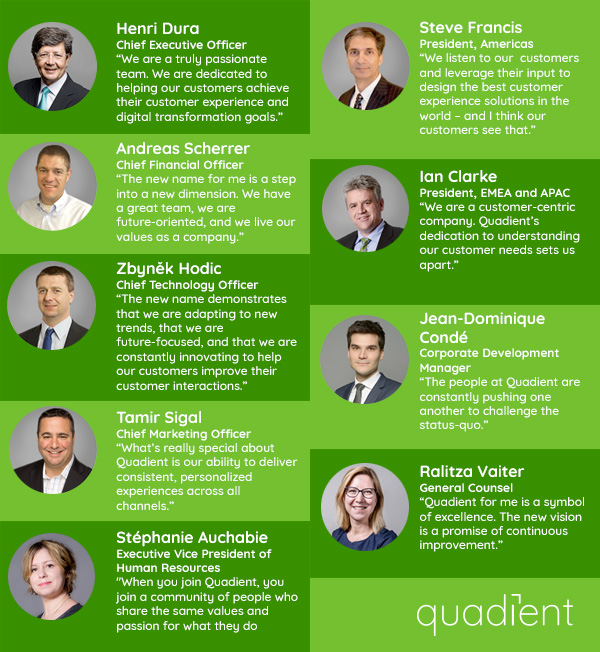 Quotes from the Quadient leadership team