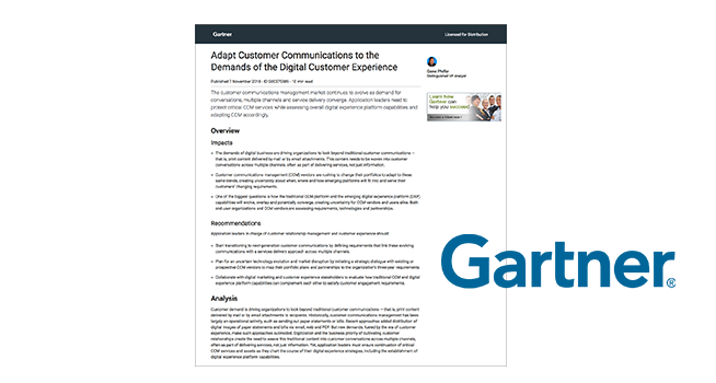 Gartner Adapt Customer Communications to the Demands of the Digital Customer