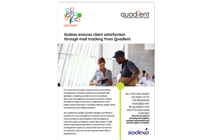 Sodexo ensures client satisfaction through mail tracking from Quadient